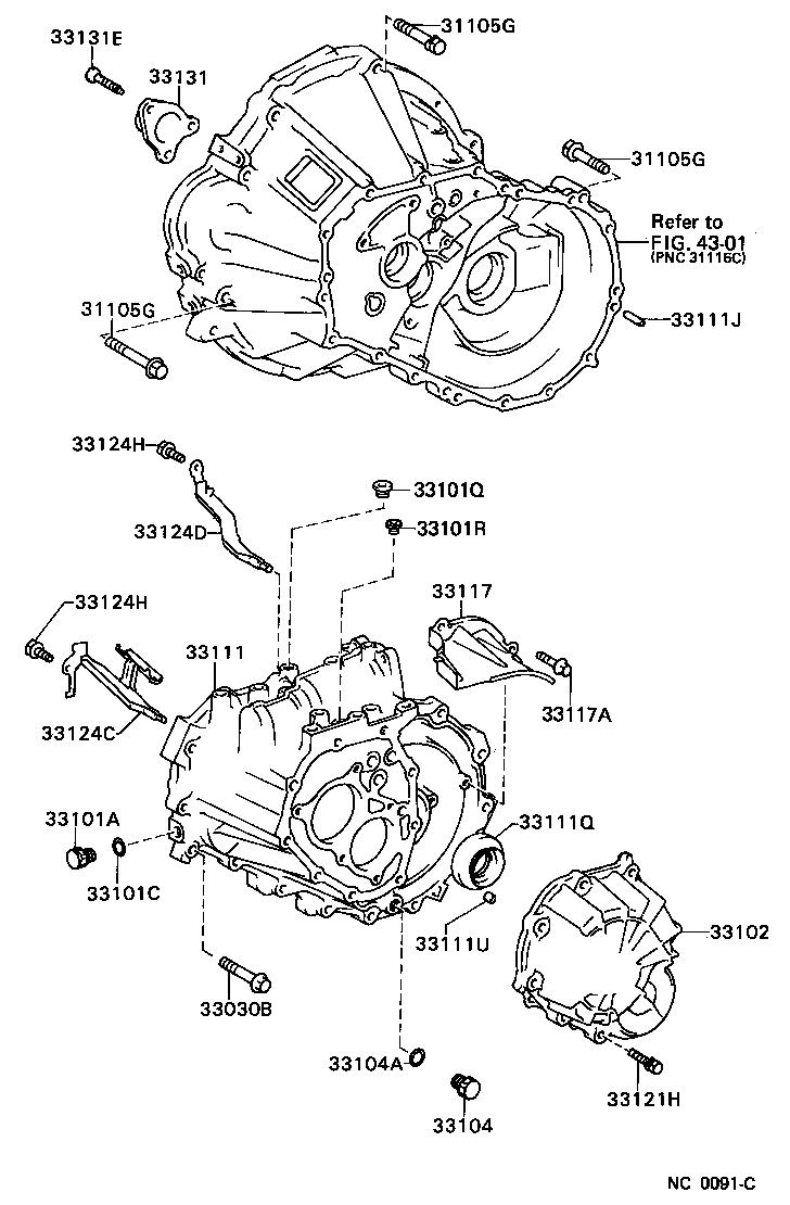 toyota corolla c50 manual gearbox diagram