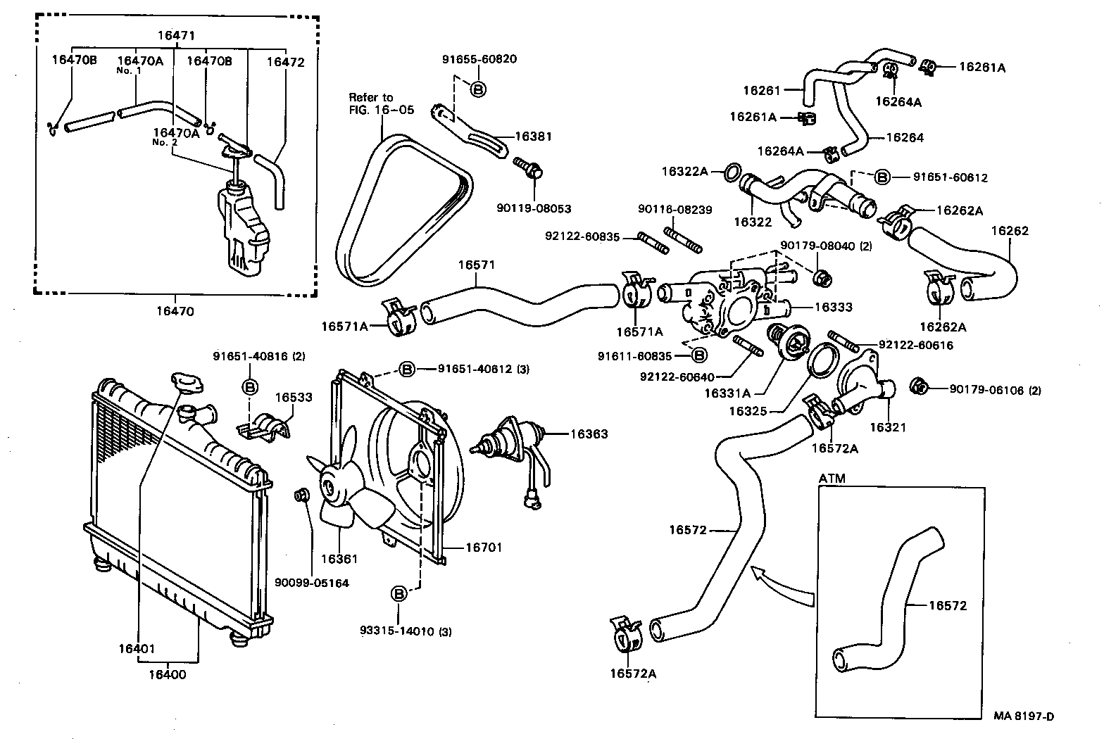 7afe corolla engine cooling system diagram