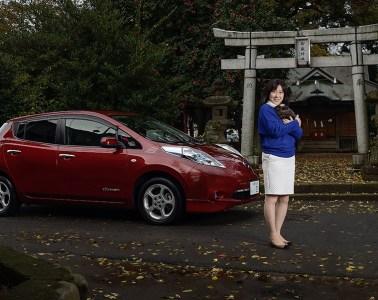 Portrait of Nissan LEAF owner for Nissan-Renault and COP21 Climate Talks 2015
