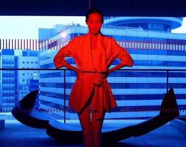 Fashion photography in Tokyo: Mari in Yurakucho