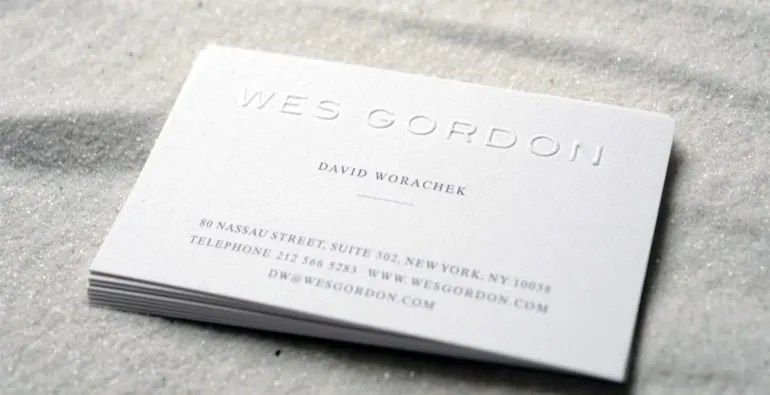 Design 101 When Should I Use An Embossed Business Card?