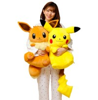 Japan Trend Shop | Big and Soft Hugging Pikachu and Eevee ...