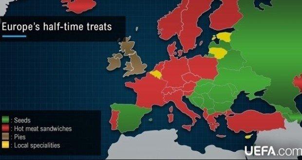 Avrupa'da taraftarlar maç öncesi ne yiyor?