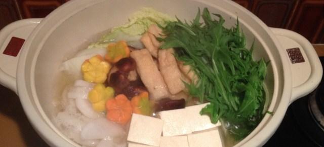Nabe au mizuna 水菜入り鍋