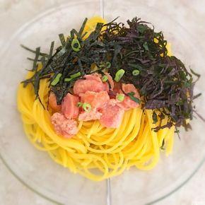Spaghetti à la japonaise au mentaiko shiso et nori  和風明太海苔紫蘇スパゲティ