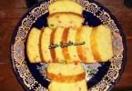 كيك البرتقال و الفواكه المعسلة