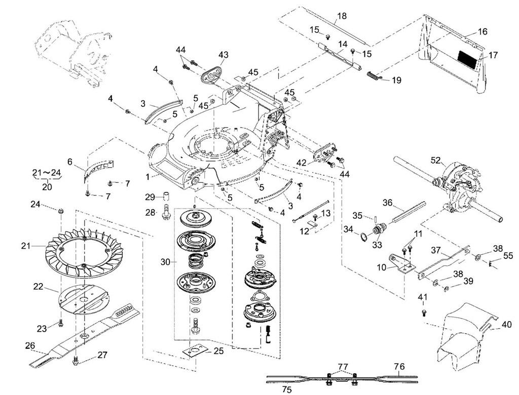 jaguar schema moteur tondeuse
