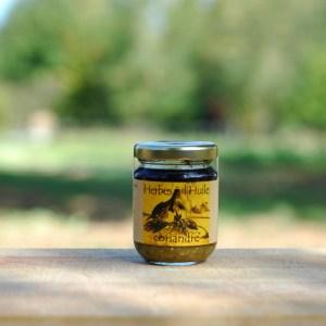 herbe à l'huile coriandre bio
