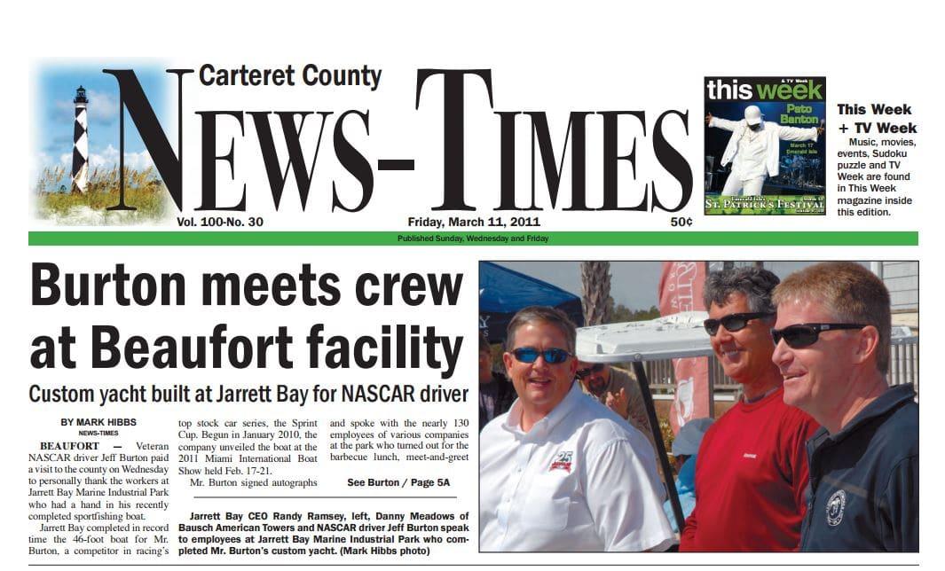 Jeff Burton Meets the Jarrett Bay Crew in Beaufort