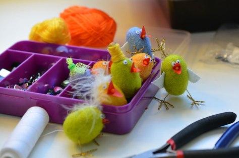 Gör tovade fåglar