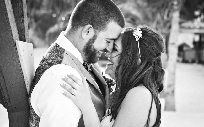 Natalie & Chad's Silly yet Glamourous Garden Wedding at Hotel Riu Yucatan