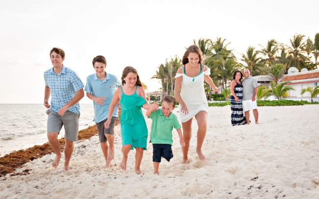 The Cederholms Enjoy Their Family Time in The Bustling Beach Town of Playa del Carmen