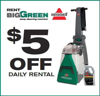 New 500 Off Bissell Carpet Cleaner Rental Coupon