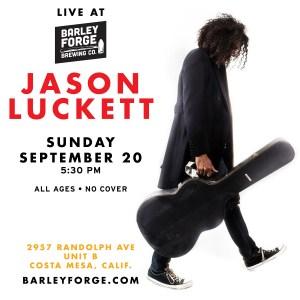 Jason Luckett flyer for Barley Forge