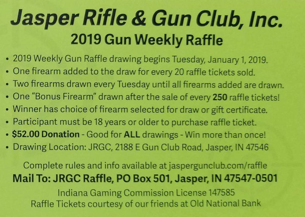Weekly Gun Raffle Jasper Rifle  Gun Club