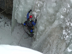 Enjoy ice climbing without the risk of avalanches.