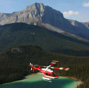 Take a heli-tour of the Canadian Rockies -- see Banff National Park from the air!