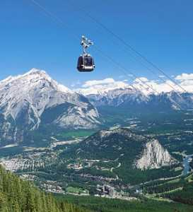 No Sweat! Use a Gondola to Scale the Canadian Rockies in Banff.