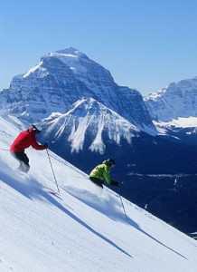 Ski Lake Louise in the Canadian Rockies' Banff National Park.