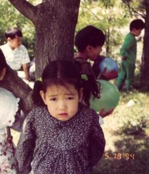 Childhood Photo of Park Shin Hye (1)