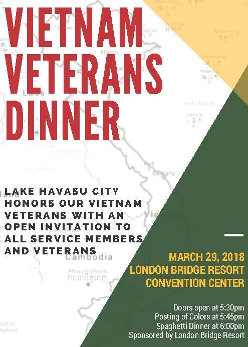 Vietnam Veteran Spaghetti Dinner 2018 Flyer - Dinner Flyer
