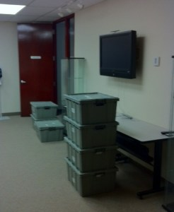 Boxes everywhere!