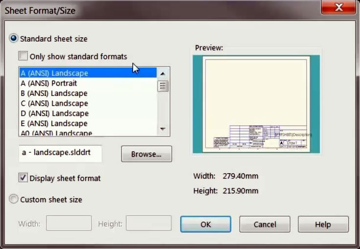 Creating Custom Drawing Template and Sheet Formats in SOLIDWORKS