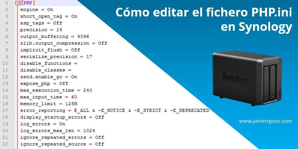 Cómo editar PHP.ini en Synology