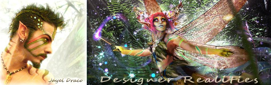 photomanipulation - designer realities - selfie pixie - banner - by Jayel Draco
