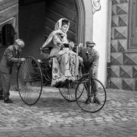 Bertha Benz Driving the Benz Patent-Motorwagen