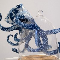 Magnetic Cyanotype Animal Sculptures by Tasha Lewis