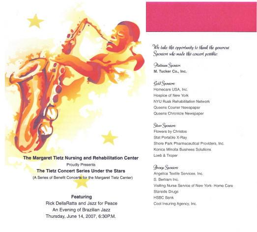 Jazz For Peace Sample Fliers And BrochuresSample Concert Program