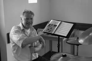 Bob van Eekhout, drummer en manager van JazzTraffic