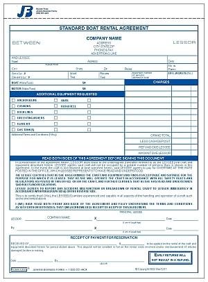 1958 Boat Rental Agreement