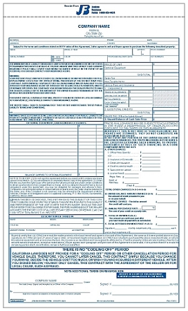 100CRV California Recreational Vehicle Purchase Agreement
