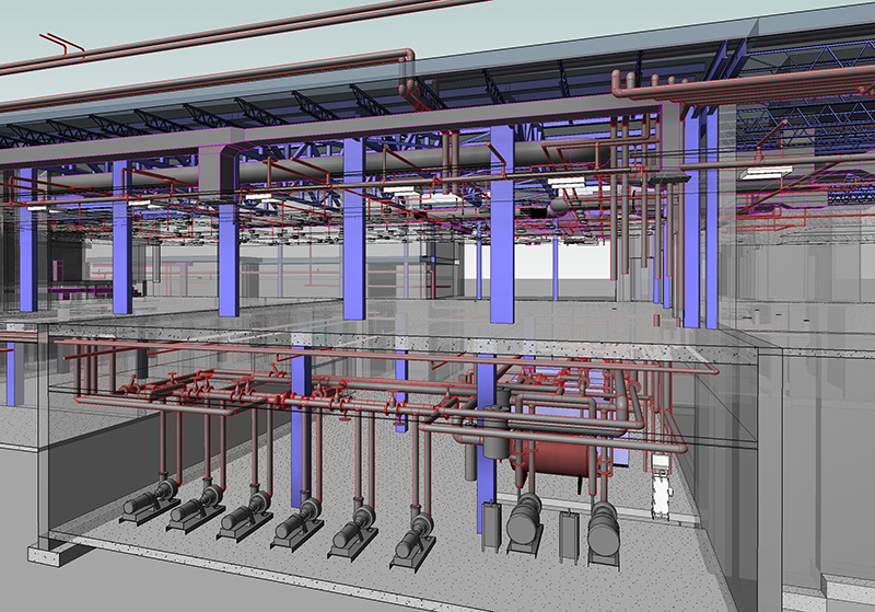 MEP Services Projects MEP Coordinated shop drawings services, HVAC