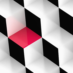 Black and white cubes preview