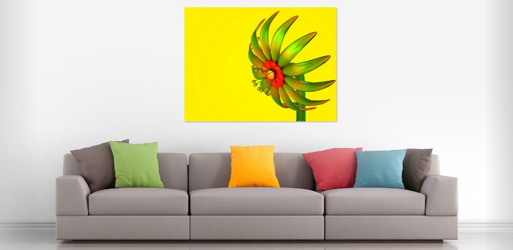 Digitale glazen bloem - Digital Flower Interior