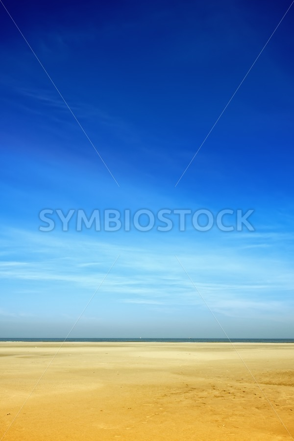 Blue beach - Jan Brons Stock Images