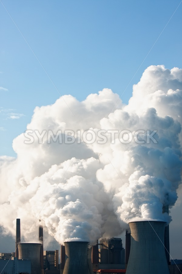 Coal power station plumes. - Jan Brons Stock Images