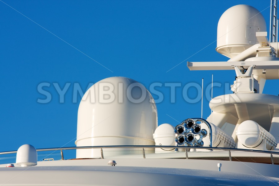 Communication and safety equipment onboard yacht