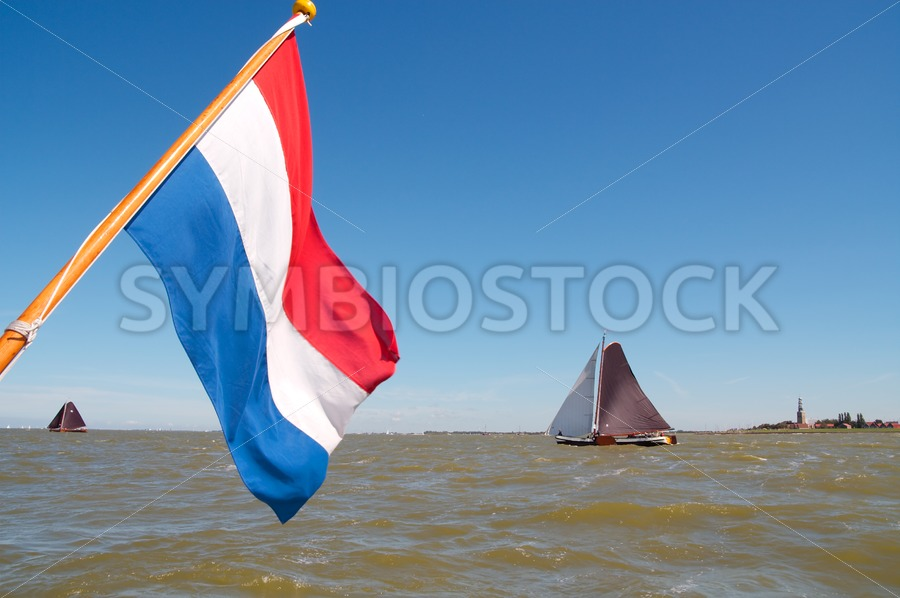 Dutch flag and skutsjes - Jan Brons Stock Images