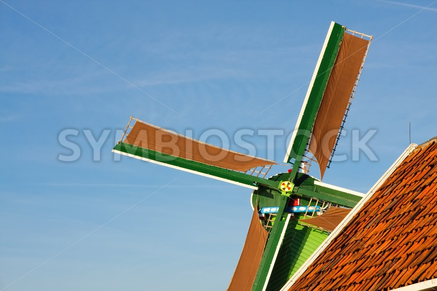 Dutch windmill closeup - Jan Brons Stock Images
