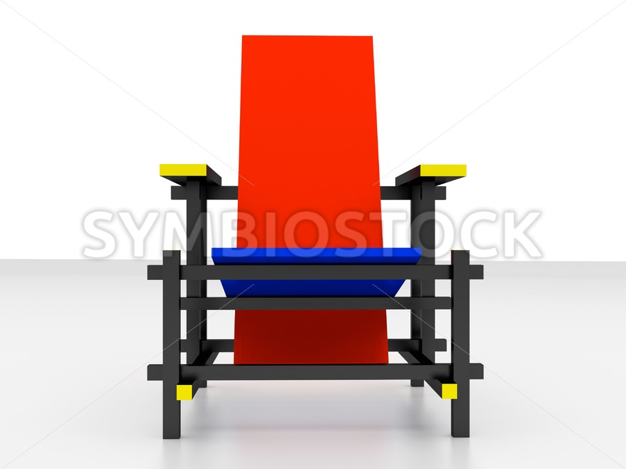 Rietveld chair front view