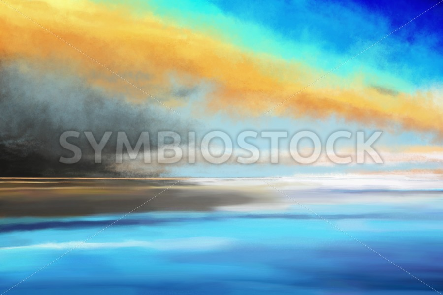 Seascape painting - Jan Brons Stock Images