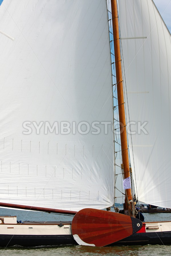 Sideview skutsje - Jan Brons Stock Images