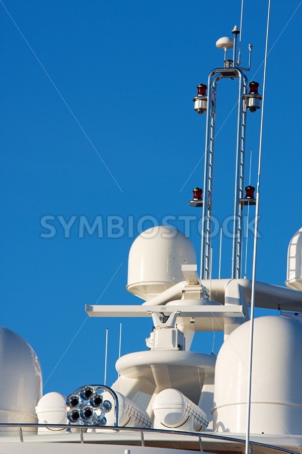 Yacht communication and safety equipment - Jan Brons Stock Images