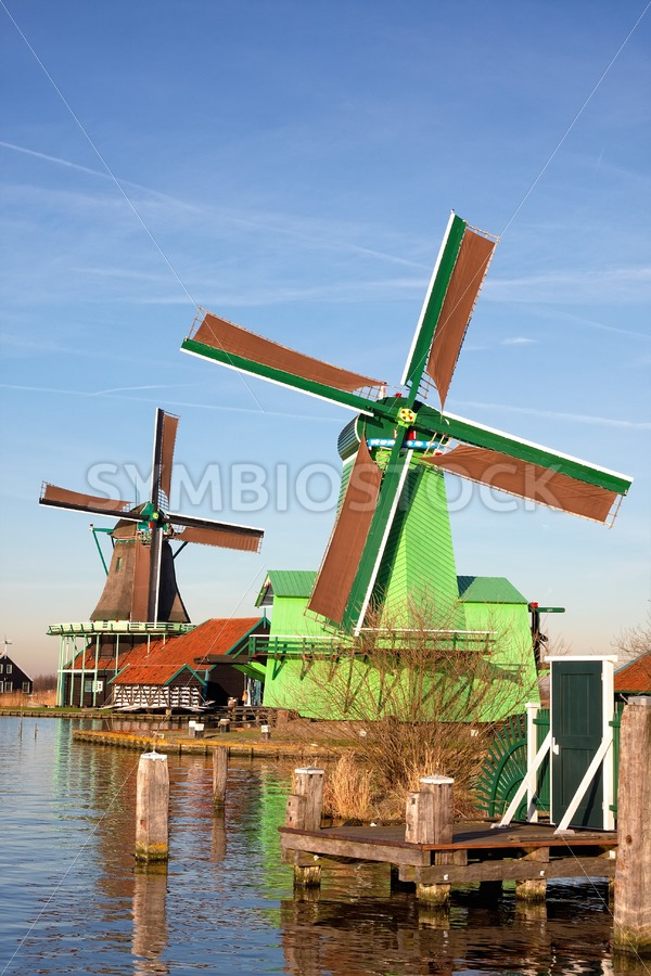Zaanse Schans windmills - Jan Brons Stock Images