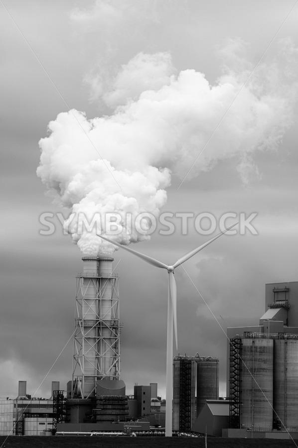 Coal power wind energy - Jan Brons Stock Images