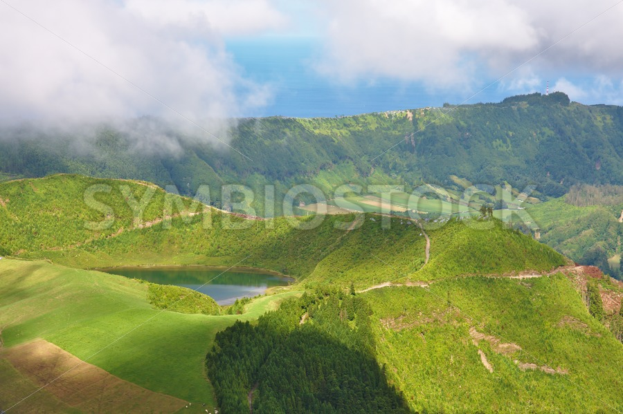 Vulcano Crater Lake - Jan Brons Stock Images
